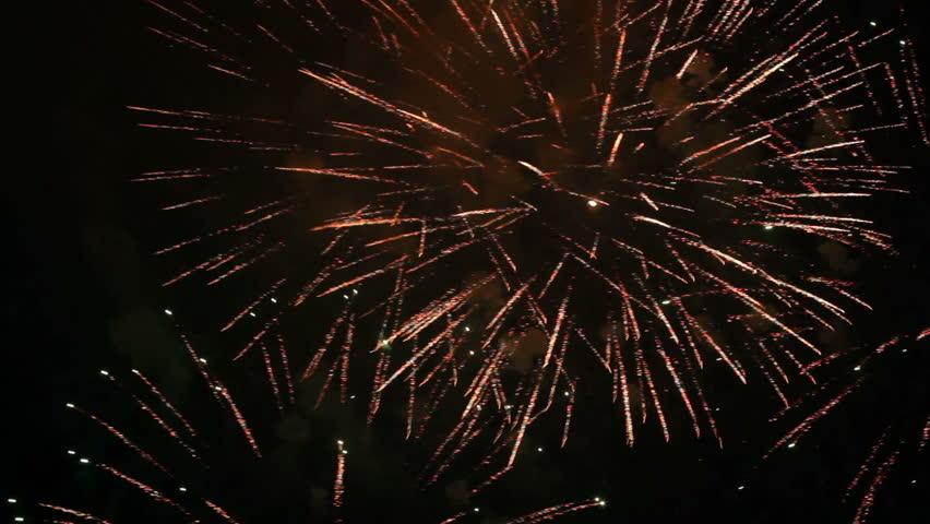 Fireworks flashing in the sky. | Shutterstock HD Video #3095338