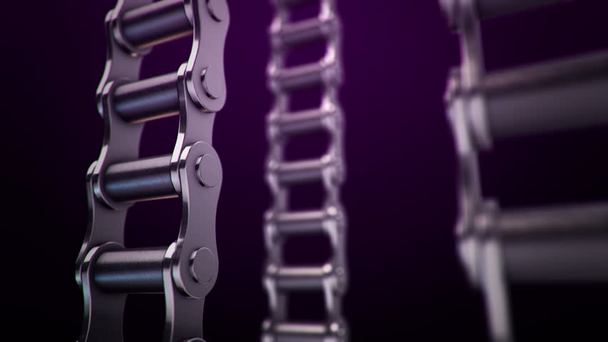 Animation of moving steel metallic chains. Animation of seamless loop. | Shutterstock HD Video #30963169