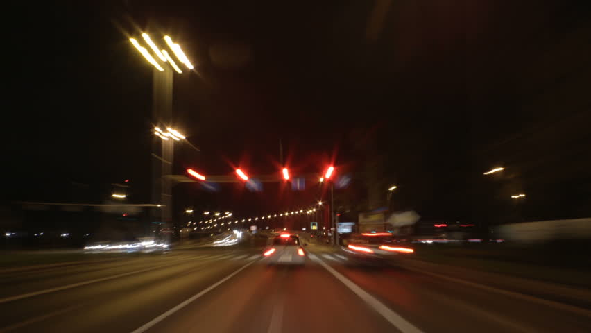 Fast driving through the night - timelapse | Shutterstock HD Video #30963877