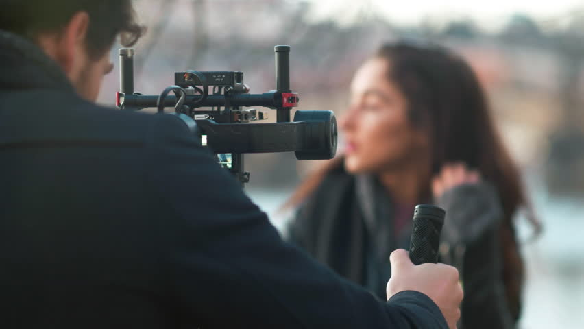 Indie Filmmaker Working with his Model