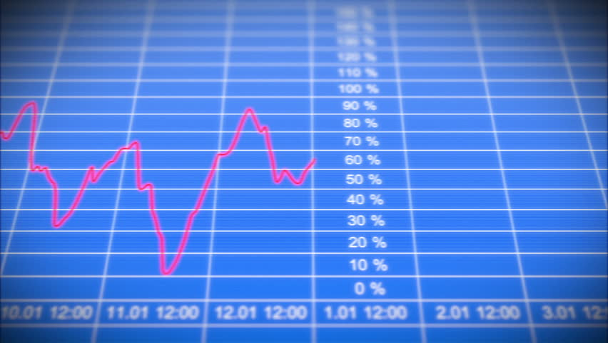 Stock Market Chart on Blue background. Front view. HD 1080. Looped 3d animation.   Shutterstock HD Video #3099898