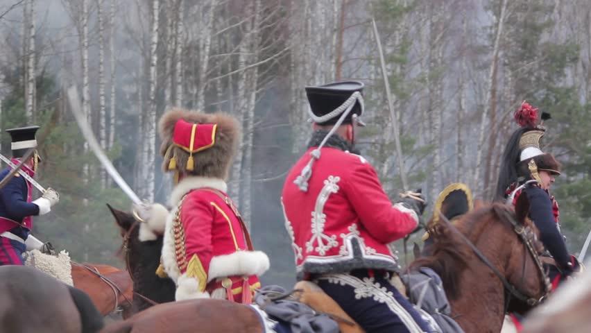 War of 1812, saber fights, hussars, cavalrymen