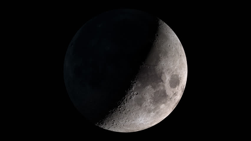 Seamless animation of moon phases with alpha channel. Elements of this image furnished by NASA.