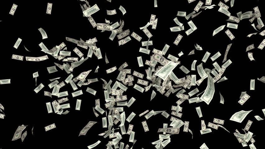 дополнительное эффект на фото падающие деньги удобный
