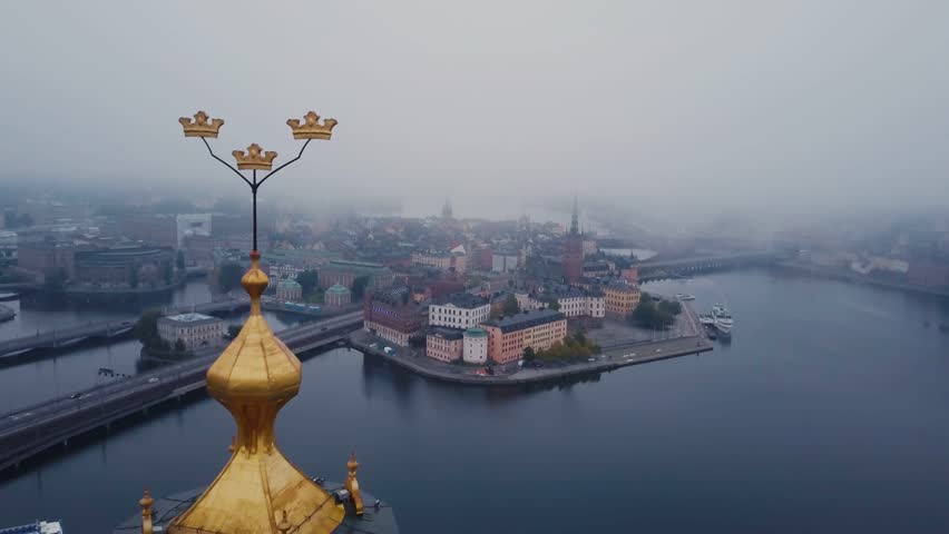 Stockholm drone 4K Royalty-Free Stock Footage #31053427