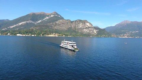 Ferry-boat on Como lake, Varenna - Menaggio - Bellagio