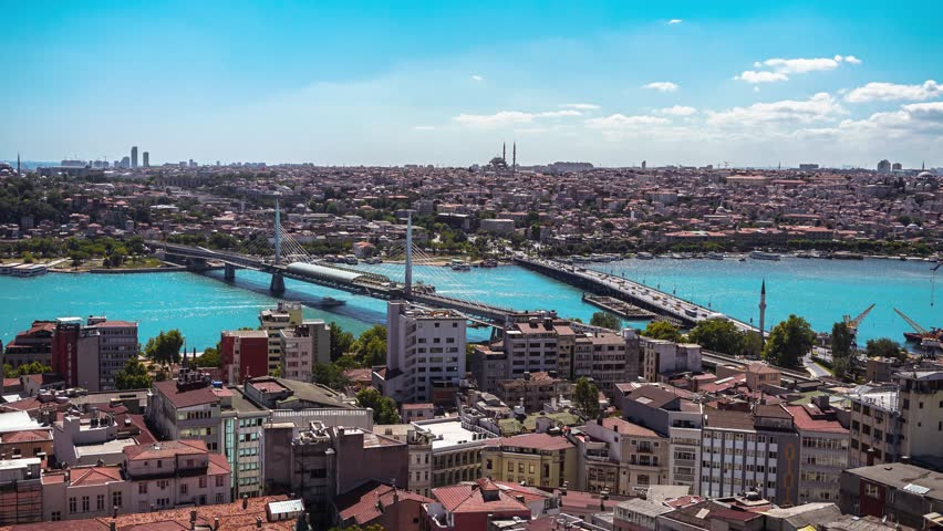 Istanbul - Halic from Galata Tower - Timelapse | Shutterstock HD Video #31063999