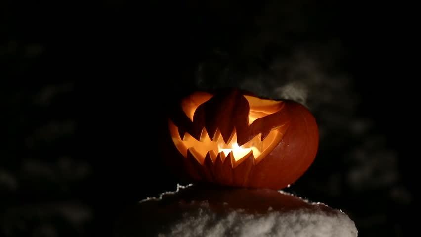 Burning pumpkin on Halloween. Looped | Shutterstock HD Video #31070602