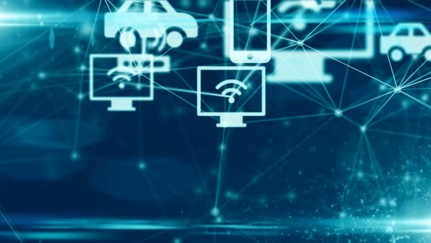 Connected devices Internet of things (IoT) cloud computing data network technolo | Shutterstock HD Video #31073221