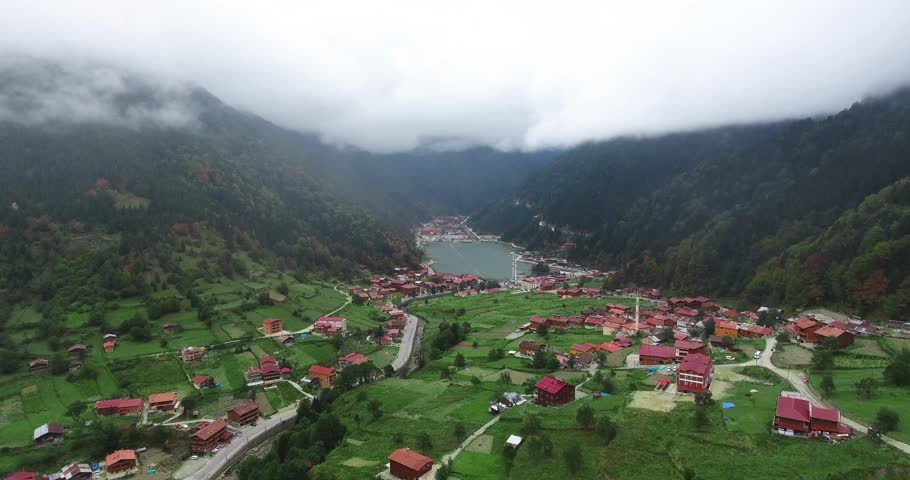 Uzungöl is a lake situated to the south of the city of Trabzon, in the Çaykara district of Trabzon Province, Turkey.   Shutterstock HD Video #31091542