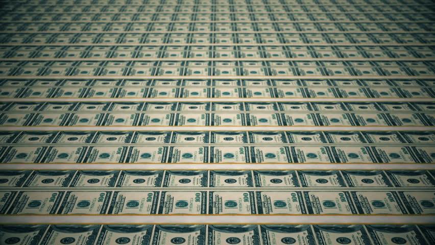 Dollar bills, money background.