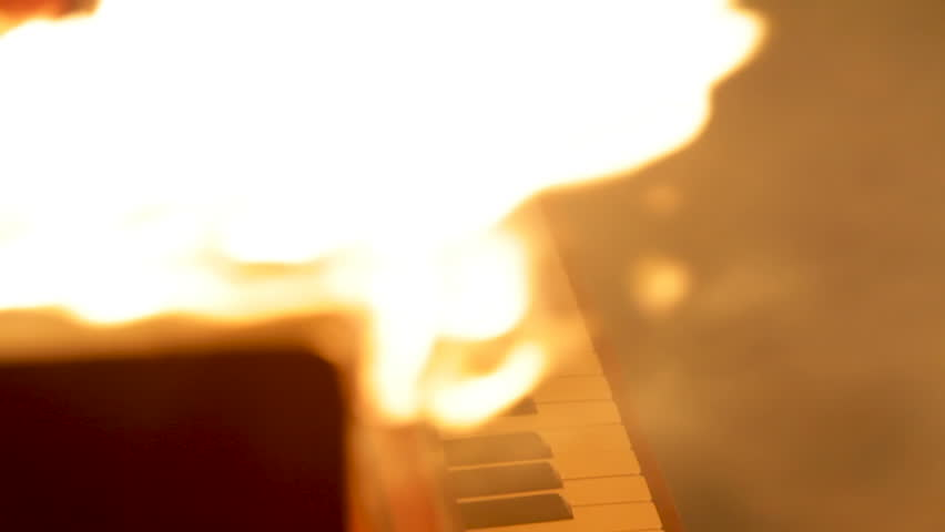 Real Burning old Piano. | Shutterstock HD Video #31110469