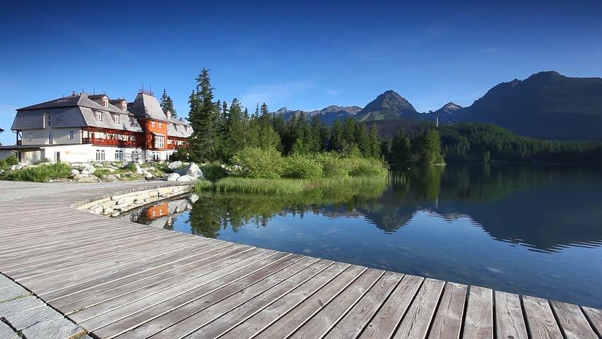 Mountain lake in National Park High Tatra. Strbske pleso, Slovakia, Europe. HD