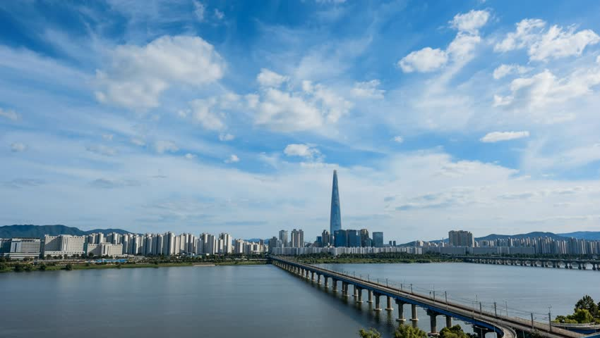 View of Seoul and traffic in South Korea   Shutterstock HD Video #31120033