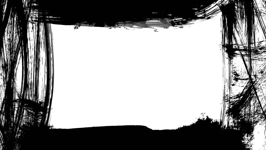 Animation grunge - brush stroke on a white background. Abstract hand - painted element. Grunge brush strokes animation. Underline and border design. Seamless looping background. 4K | Shutterstock HD Video #31121005