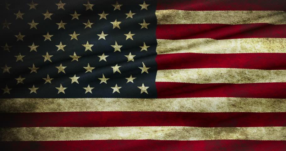Closeup of Grunge American Usa : vídeo stock (100% livre de ...