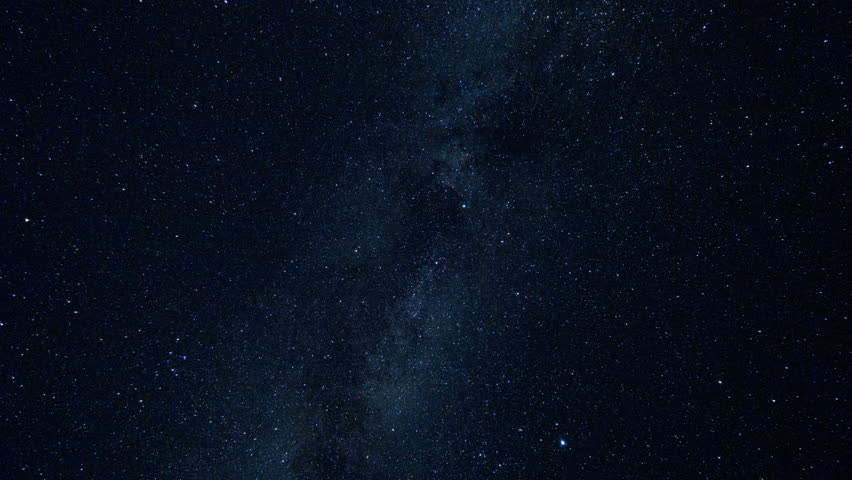 Milky Way and Stars Moving Across the Night Sky, Time Lapse #31142716