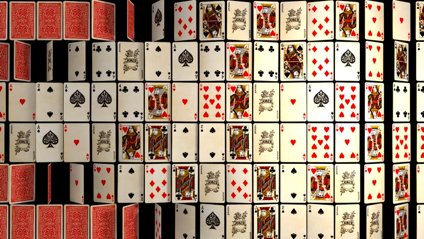 BACKGROUND DECK OF POKER CARDS, COLLAGE POKER CARDS,