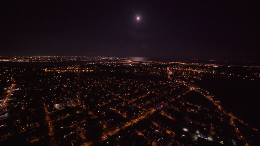 Flying over Staten Island at night   Shutterstock HD Video #31169203