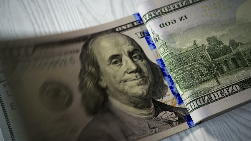 02891 Close-up shot of counting 100 dolar bills | Shutterstock HD Video #31192657