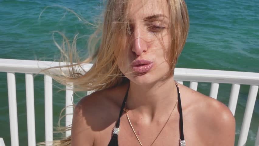 summer sexy girl in bikini on the beach