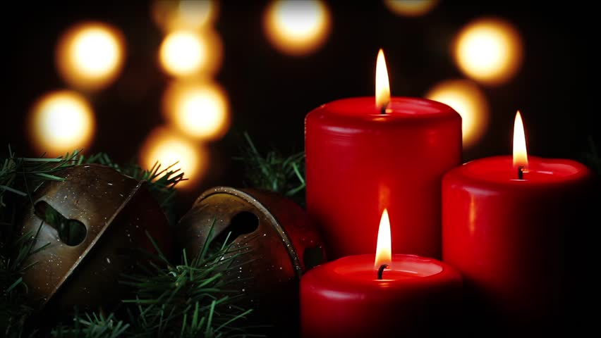 Looping. Three Red Christmas Candles Stock Footage Video (100% Royalty-free) 3119728 | Shutterstock