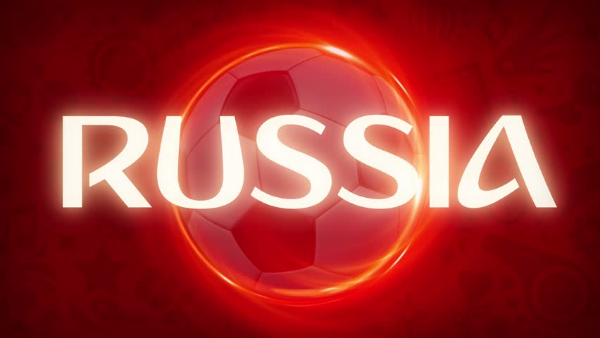 Russia Football. World Sport Event Teams of 2018. 4K Video Animation.