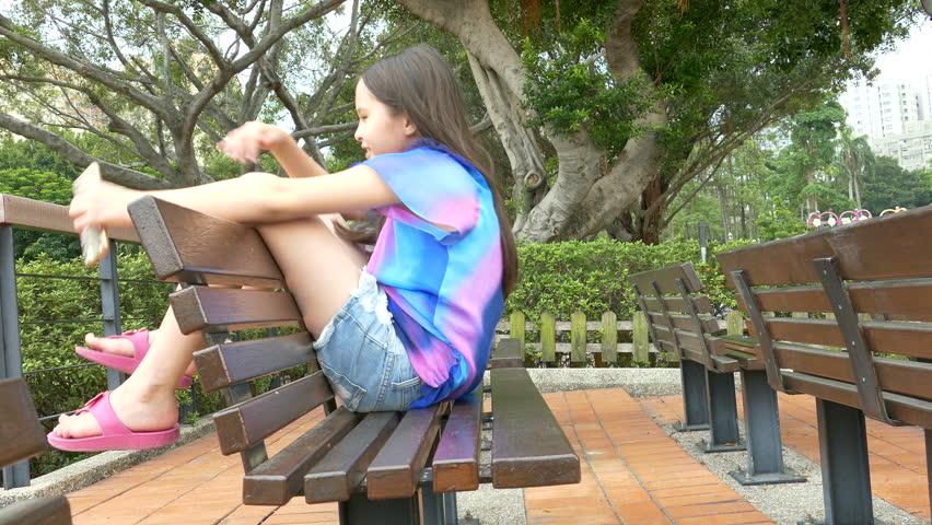 Young tween girl whistling stock image. Image of adorable