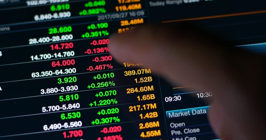 Digital tablet computer showing stock market data information graph  | Shutterstock HD Video #31237195