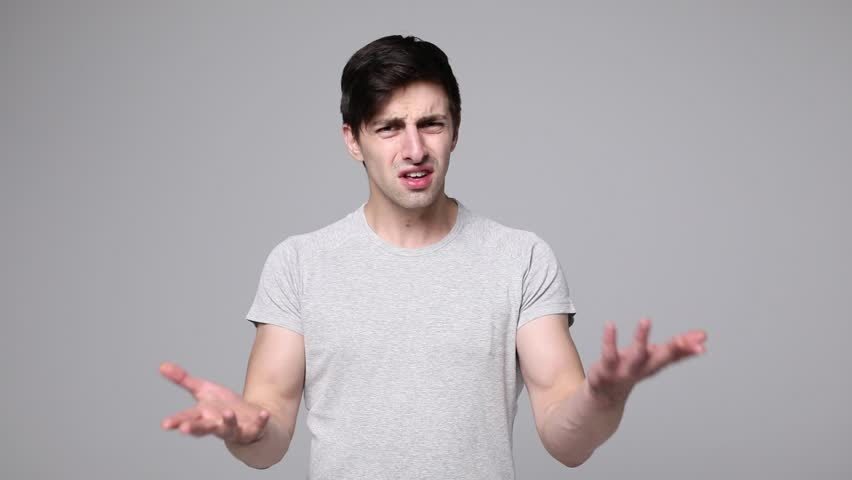 Portrait of Young Man say no, scream no, showing stop sign, Dislike, Rejecting Gesture, Disagree Sign, Crossing hands   Shutterstock HD Video #31248265