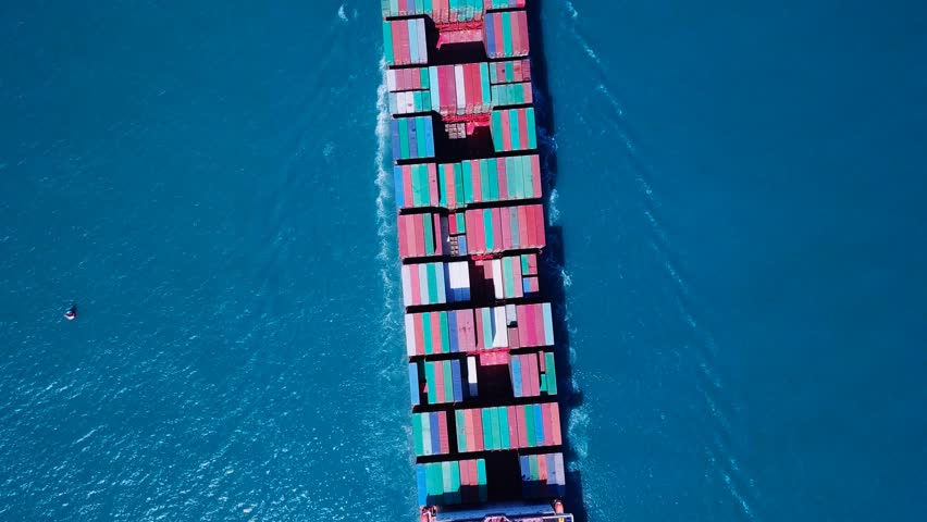 Ultra large container vessel (ULCV) at sea - Aerial footage  | Shutterstock HD Video #31277809