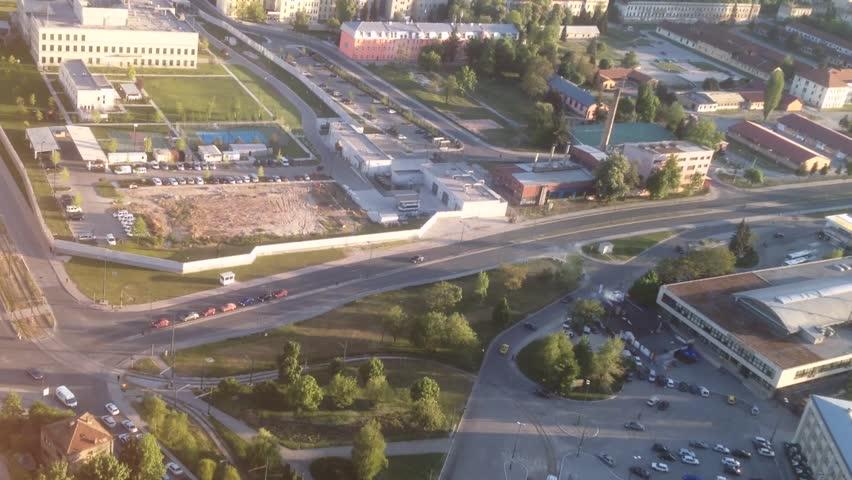 Landscape city view from highest skyscraper business building center. | Shutterstock HD Video #31287811