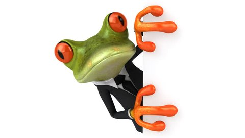 Fun frog in a suit