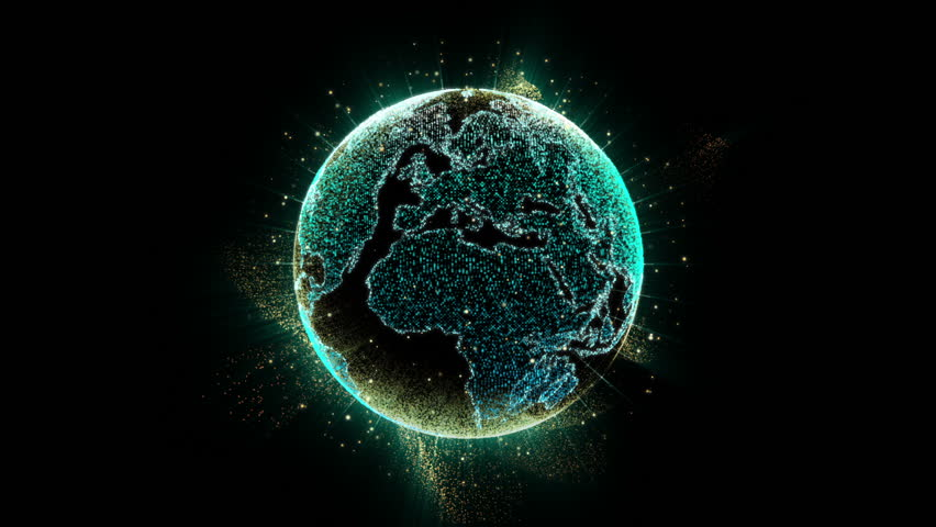 Holographic Earth Globe for user interface head up display background computer desktop screen display Royalty-Free Stock Footage #31292503
