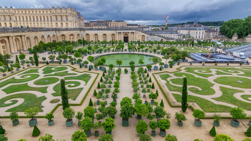 Famous Palace Versailles with Beautiful Stock Footage Video (100 ...