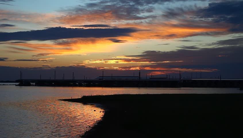 Sunrise over Lake Lewisville in Highland Village Texas.   Shutterstock HD Video #31335502