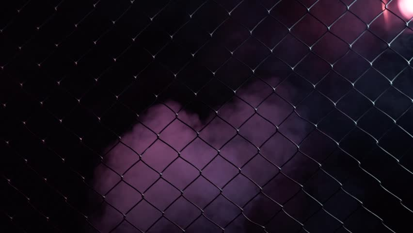 Boxer comes out of the shadows. Grabs his hands behind the net. Dark room, red light. | Shutterstock HD Video #31408843