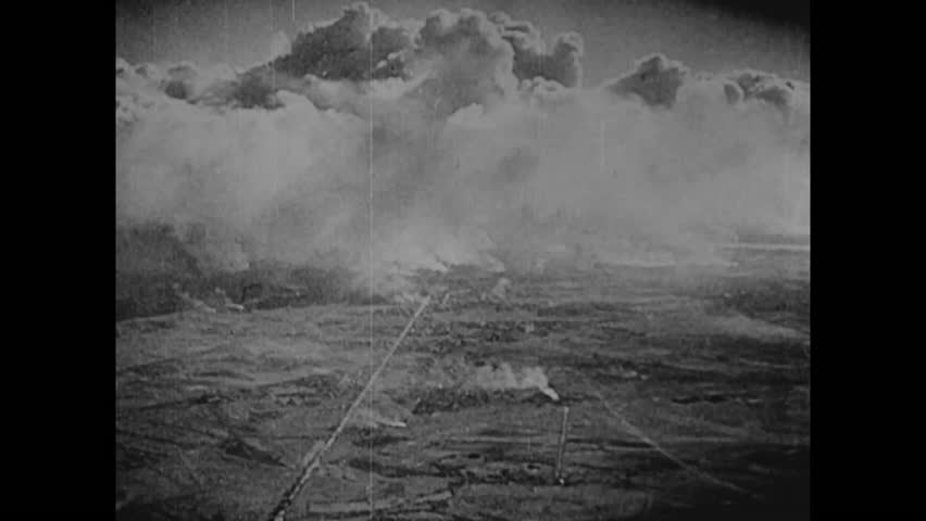 CIRCA 1940s - Hitler invades Poland in World War Two.