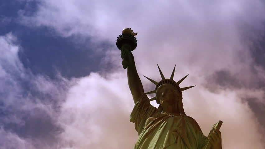 New York : Statue of Liberty, with clouds and effects, ultra hd 4k | Shutterstock HD Video #31416010