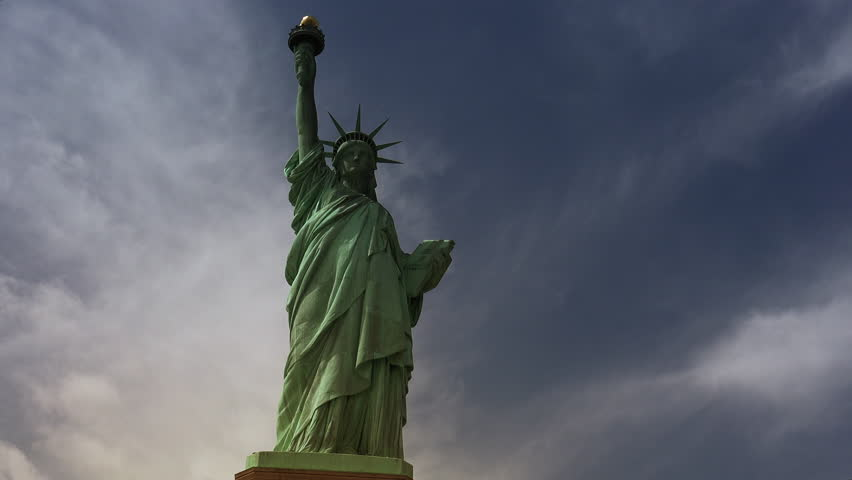 New York : Statue of Liberty, with clouds and effects, ultra hd 4k | Shutterstock HD Video #31416094