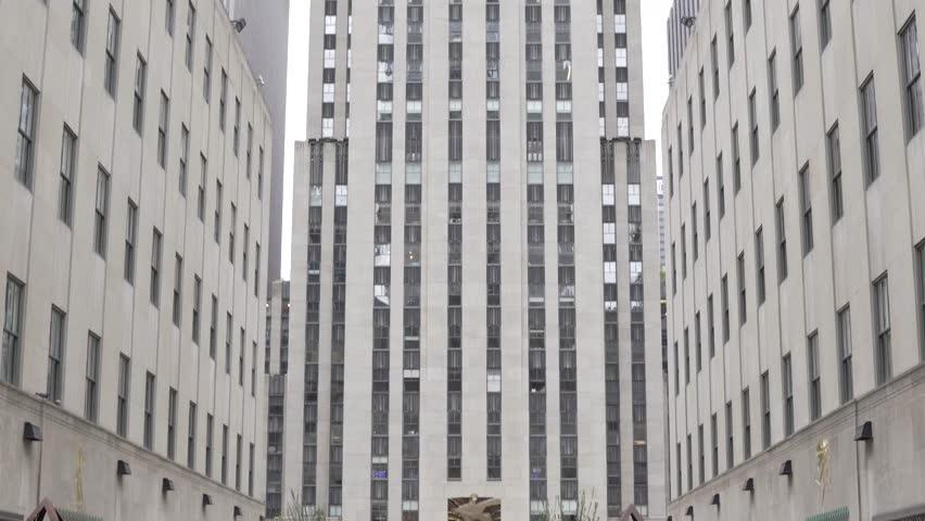 NEW YORK, NY, NEW YORK CITY Streets. Walking in New York.Rockefeller Center