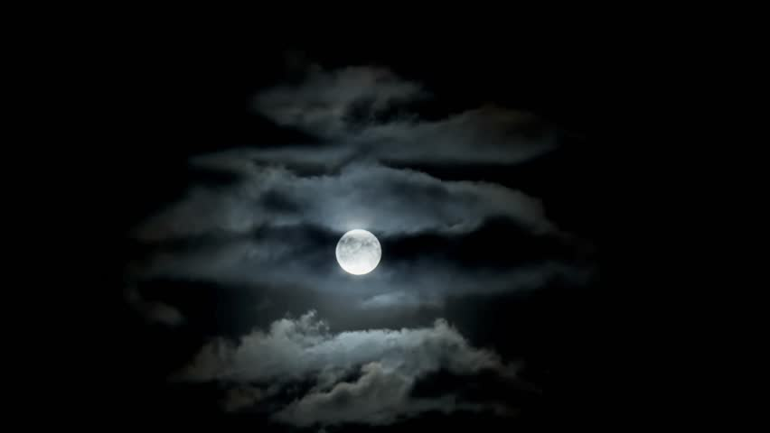 Full moon clouds night sky - time lapse   Shutterstock HD Video #31467025