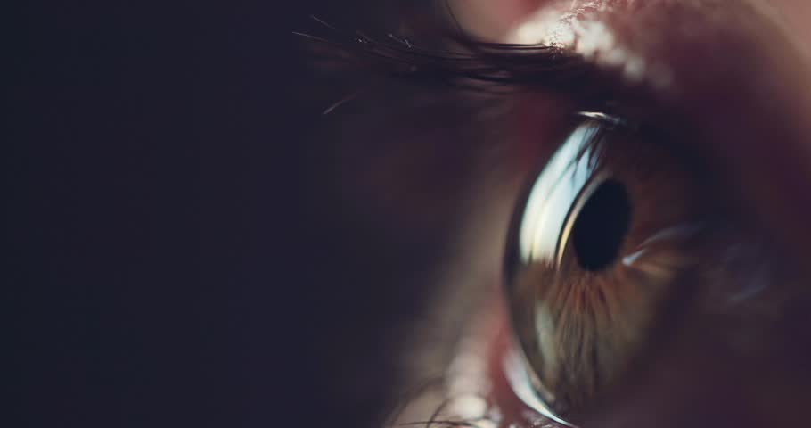Macro Close-up eye blinking. Slow Motion, 120 fps. Young Woman is opening and closing her beautiful eye. | Shutterstock HD Video #31553428