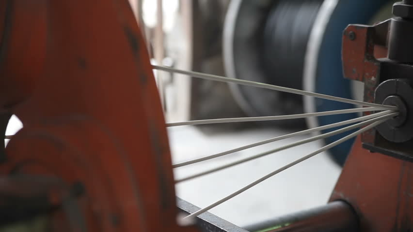 Manufacturing of an electrical cable in production | Shutterstock HD Video #31556173