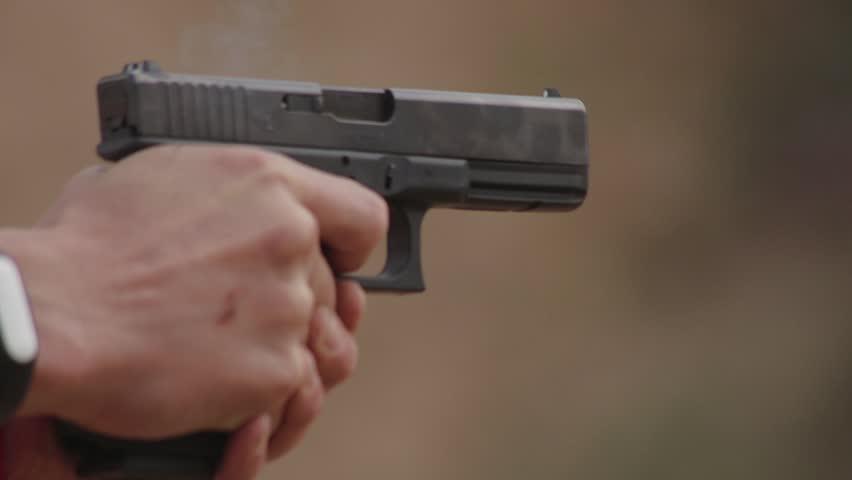 FullHD footage. Firing from pistol, close up | Shutterstock HD Video #31566514