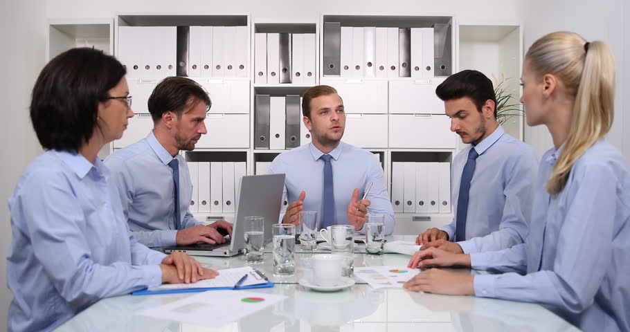 Boss Conversation with Business People in Boardroom Talking About Deal Strategy | Shutterstock HD Video #31579819