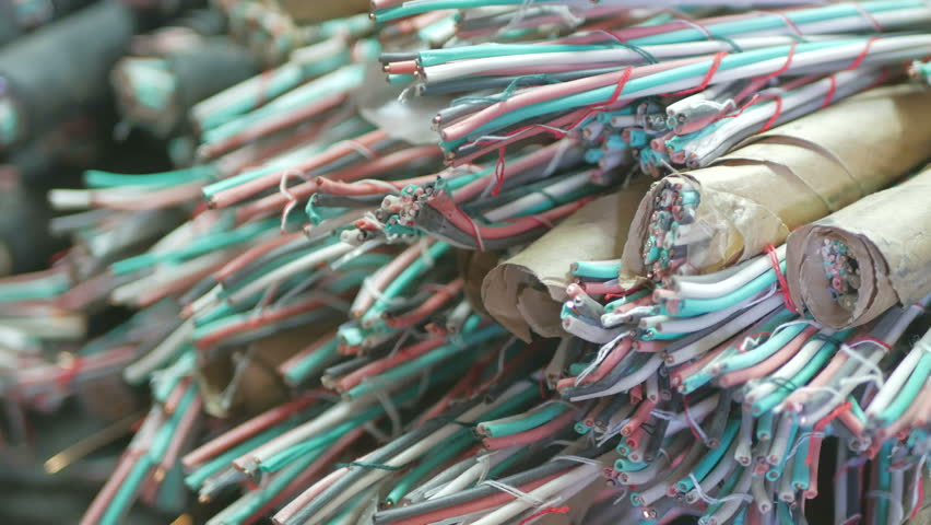 The used copper cable