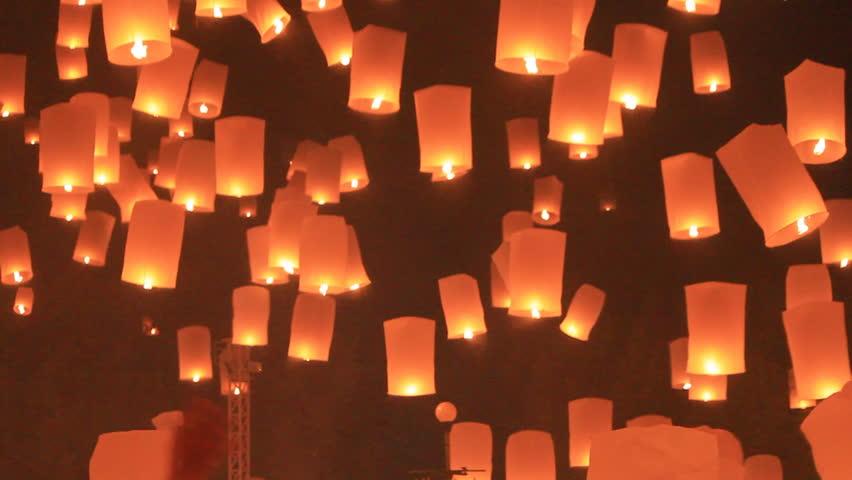 Flying lantern yeepang festival | Shutterstock HD Video #3158611