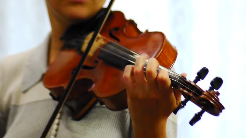 The musician plays the violin chamber music | Shutterstock HD Video #31586698