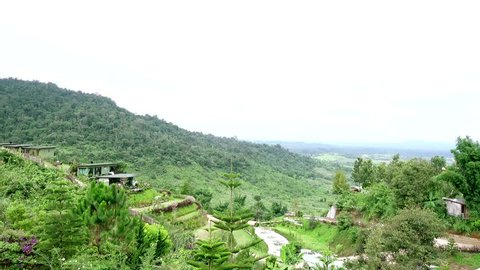 Small village in the valley